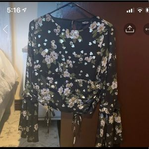 Bell Sleeve Floral Nasty Gal blouse